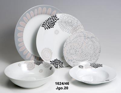 Talíře porcelán