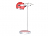 Lampa stolní červená