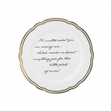 Porcelánový talíř Marais text
