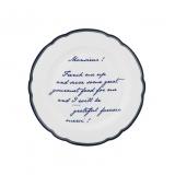 Porcelánový talíř Text