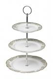 Porcelánový třípatrový talíř Paris