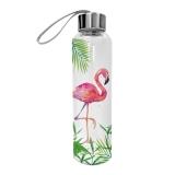 Skleněná láhev Flamingo