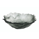 Skleněný talíř šedý 33x33x14