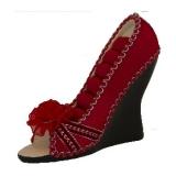 Šperkovnice bota lodička červená