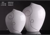 Váza štras bílá S