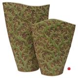 Váza zelená - větvičky M