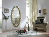 Zrcadlo Iridium OVAL Gold Spatul 168x80