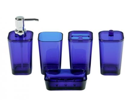 Modrá dóza do koupelny