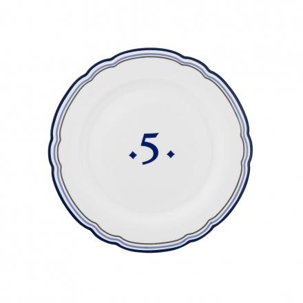 Porcelánový talíř Five, prů. 19 cm