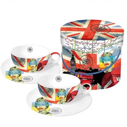 Sada 2 šálků na čaj Very British