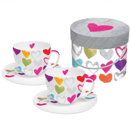 Sada šálků cappuccino Paper Hearts