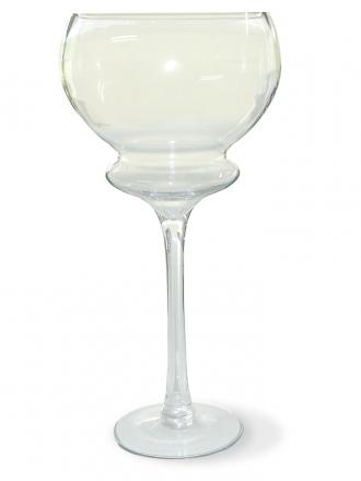 Skleněná váza 21x50