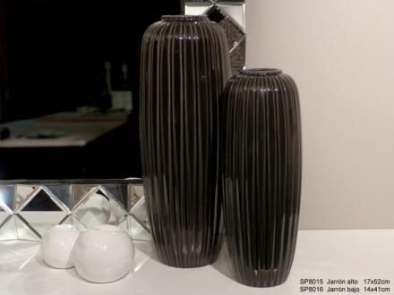 Váza antracit
