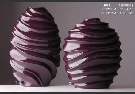 Váza plastický vzor S fialová