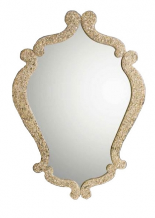 Zrcadlo Diaframma GOLD FLASH 94x70