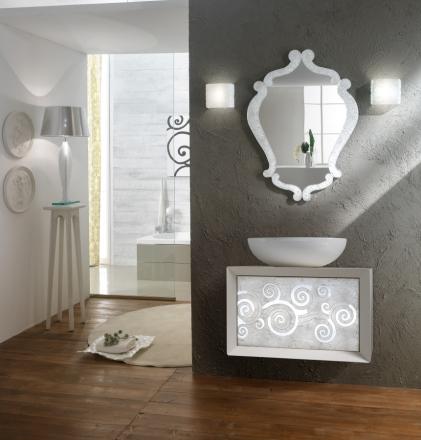 Zrcadlo Diaframma SILVER FLASH 94x70