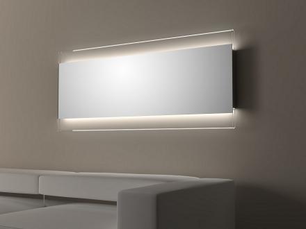 Zrcadlo Frame 168x73 cm TRASPARENTE LED