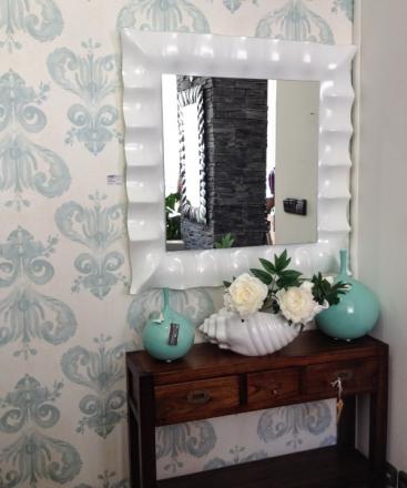 Zrcadlo Iridium WHITE 94x94